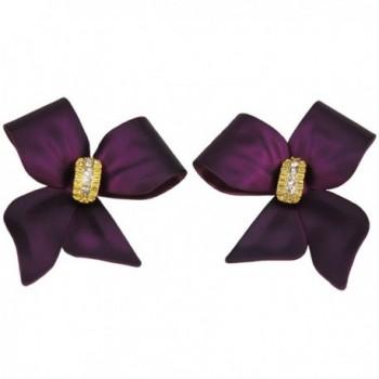 RUCINNI Purple Ribbon Earrings - CU12NUL6REF