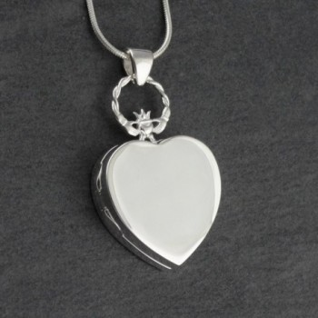 Sterling Silver Claddagh Locket Necklace