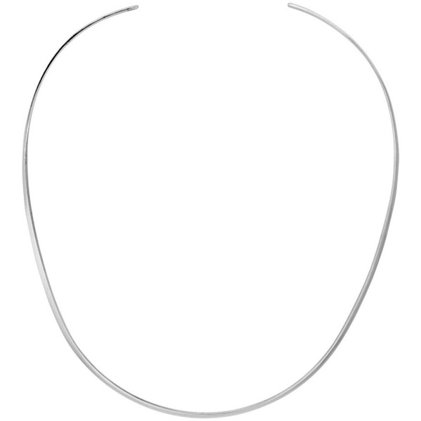 Sterling Silver Wire Choker Collar Necklace Handmade 3/32 inch - C9116AHLX5J