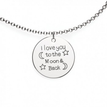 I Love You To The Moon And Back Love Pendant Necklace - Charm Necklace - Perfect Gift for Women - CG12MDYEREH