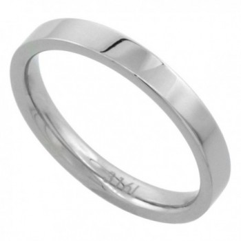 Surgical Stainless Steel 3mm Wedding Band Thumb / Toe Ring Comfort-Fit High Polish- sizes 5 - 12 - CT112E4X8B5