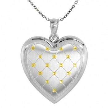 Sterling Silver Locket Necklace Picture in Women's Lockets