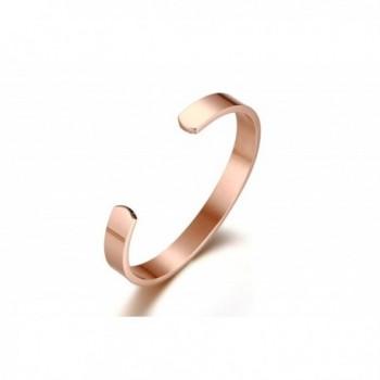 Engraving 18K Plated Stainless Steel Bracelet in Women's Cuff Bracelets