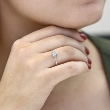 White Engagement Promise Created Sapphire in Women's Wedding & Engagement Rings