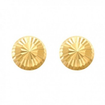 Gold Shiny Faceted Half Earrings