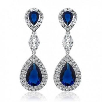 Simulated Sapphire Zirconia Chandelier Earrings in Women's Drop & Dangle Earrings