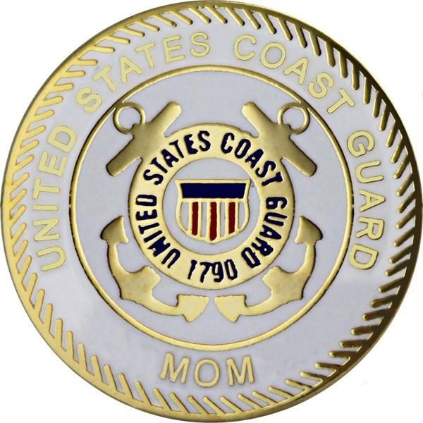 "U.S. Coast Guard Mom with Crest 7/8"" Lapel Pin - C911BRAKCGP"