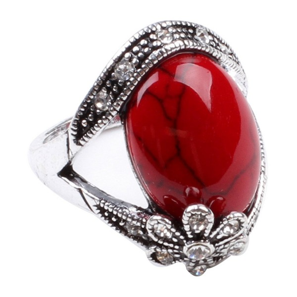 Ca Flower Style Turquoise Fashion Women's Jewelry Ring Red &iexcl&shy - CH11C0GPGL7