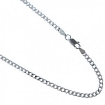 3mm Sterling Silver Curb Chain. 925 Italian Link Bracelet. 7-8 Inches - C3127RRBZEZ