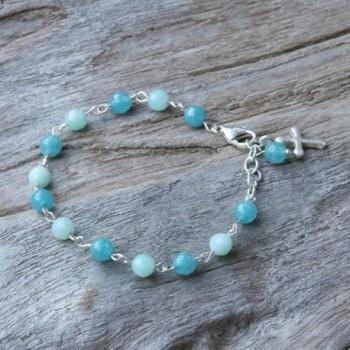NOVICA Multi Gem Amazonite Sterling Bracelet in Women's Link Bracelets