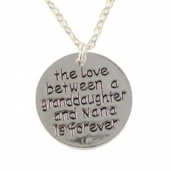 Granddaughter and Nana Keepsake Pendant Necklace The Love Between a Granddaughter and Nana is Forever - CM12O7PLAG9