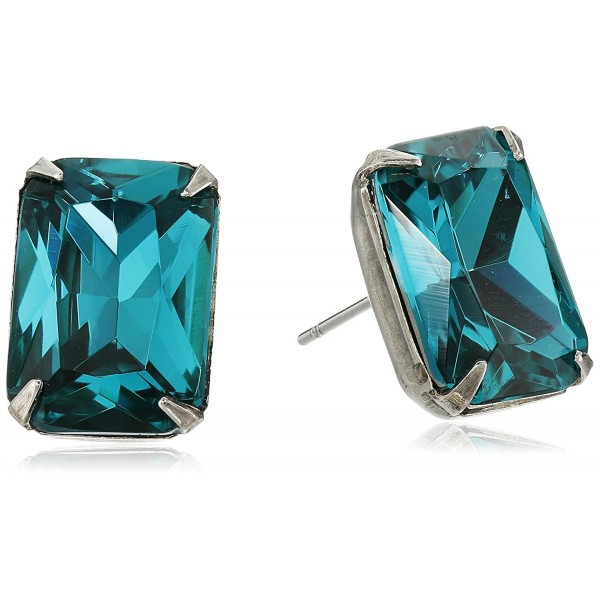 Sorrelli Petite Emerald Cut Post Stud Earrings - Ocean - CM12093OHYT