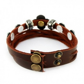 Vintage Adjustable Studded Sunflower Bracelet