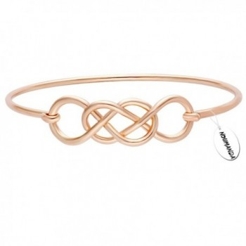 NOUMANDA Fashion Simple Design Double Lucky Infinity Bracelet Bangle - C012M7PM3BL