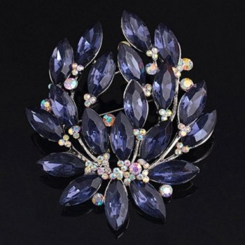 SANWOOD Sapphire Wedding Breastpin Jewelry in Women's Brooches & Pins
