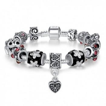 Presentski Fashion Jewelry European 925 Sterling Silver Plated Frog Charm Bracelet for Women Men Girls - CM12DS48ZMB