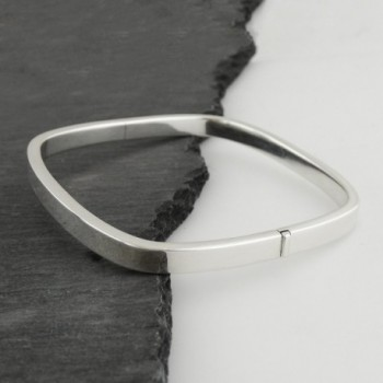 Sterling Silver Square Bangle Bracelet in Women's Bangle Bracelets