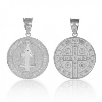 Sterling Saint Benedict Protection Necklace
