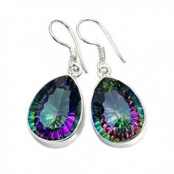 Shimmering Lights Sterling Silver Mystic Topaz Dangle Earrings - CX11VWKW8FT