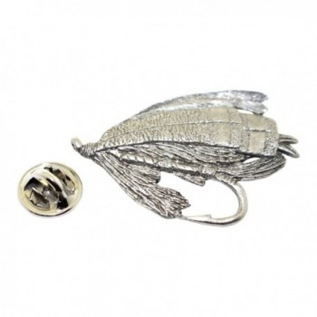 Salmon Fly Pin ~ Antiqued Pewter ~ Lapel Pin ~ Sarah's Treats & Treasures - CL12DUC2YYL
