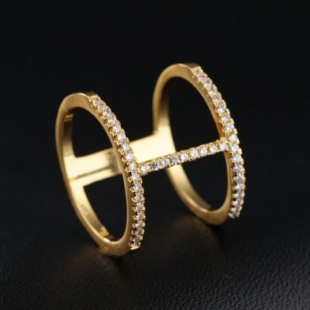 LOHOME Fashion Double Rhinestone Finger in Women's Statement Rings