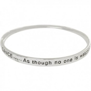 Heirloom Finds Dance as Though No One is Watching Twist Bangle Bracelet in Silver Tone - C9119K67I3T