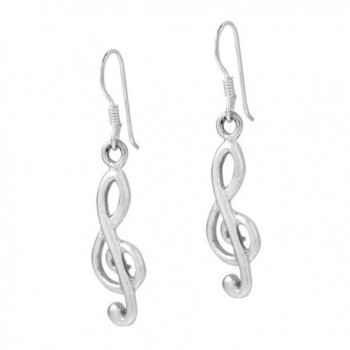 Melody Sterling Silver Treble Earrings