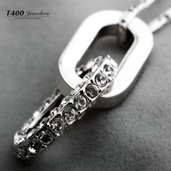 Swarovski Crystals T400 Jewelers interlocking in Women's Pendants