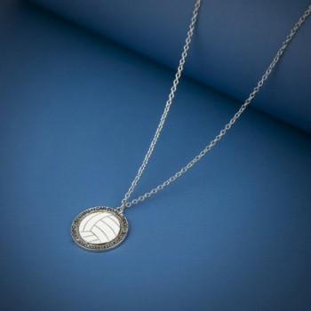 Lux Accessories Volleyball Strengthens Necklace in Women's Chain Necklaces