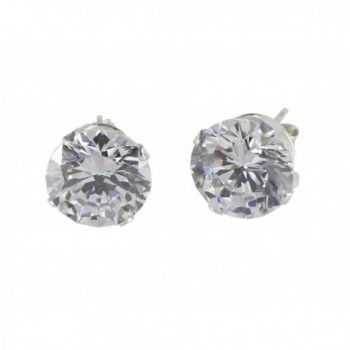 Sterling Silver Women's Stud Earrings Cubic Zirconia - CP12KU6D86N